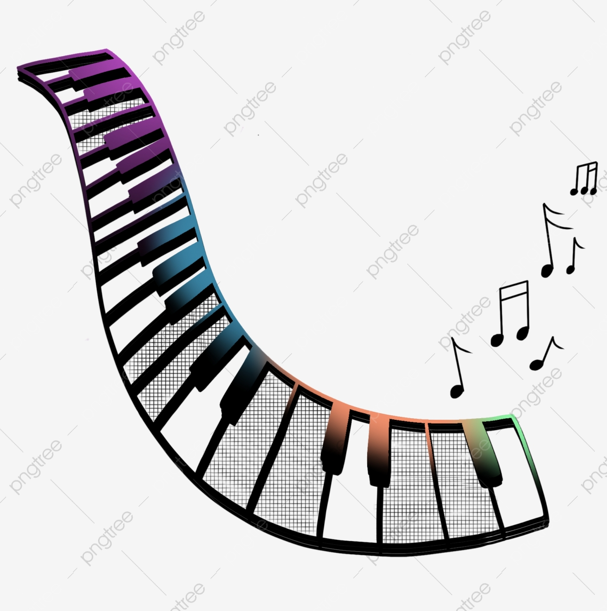 Cartoon Music Piano Key Illustration Music Keys Notes Png Transparent Clipart Image And Psd File For Free Download