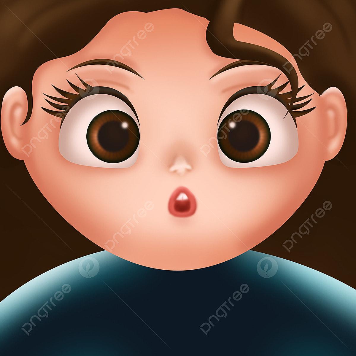 Cute Big Eyes Girl Cartoon Png Material Cute Girl Big Eyes Girl