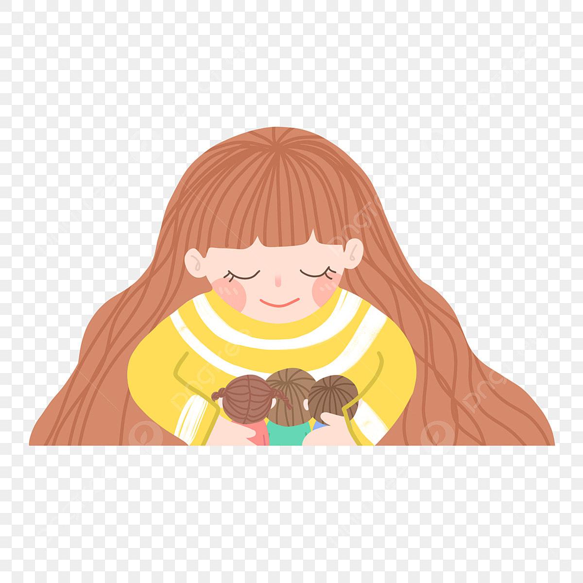 Gadis Berambut Panjang Memegang Biskut Cip Chocolate Gadis