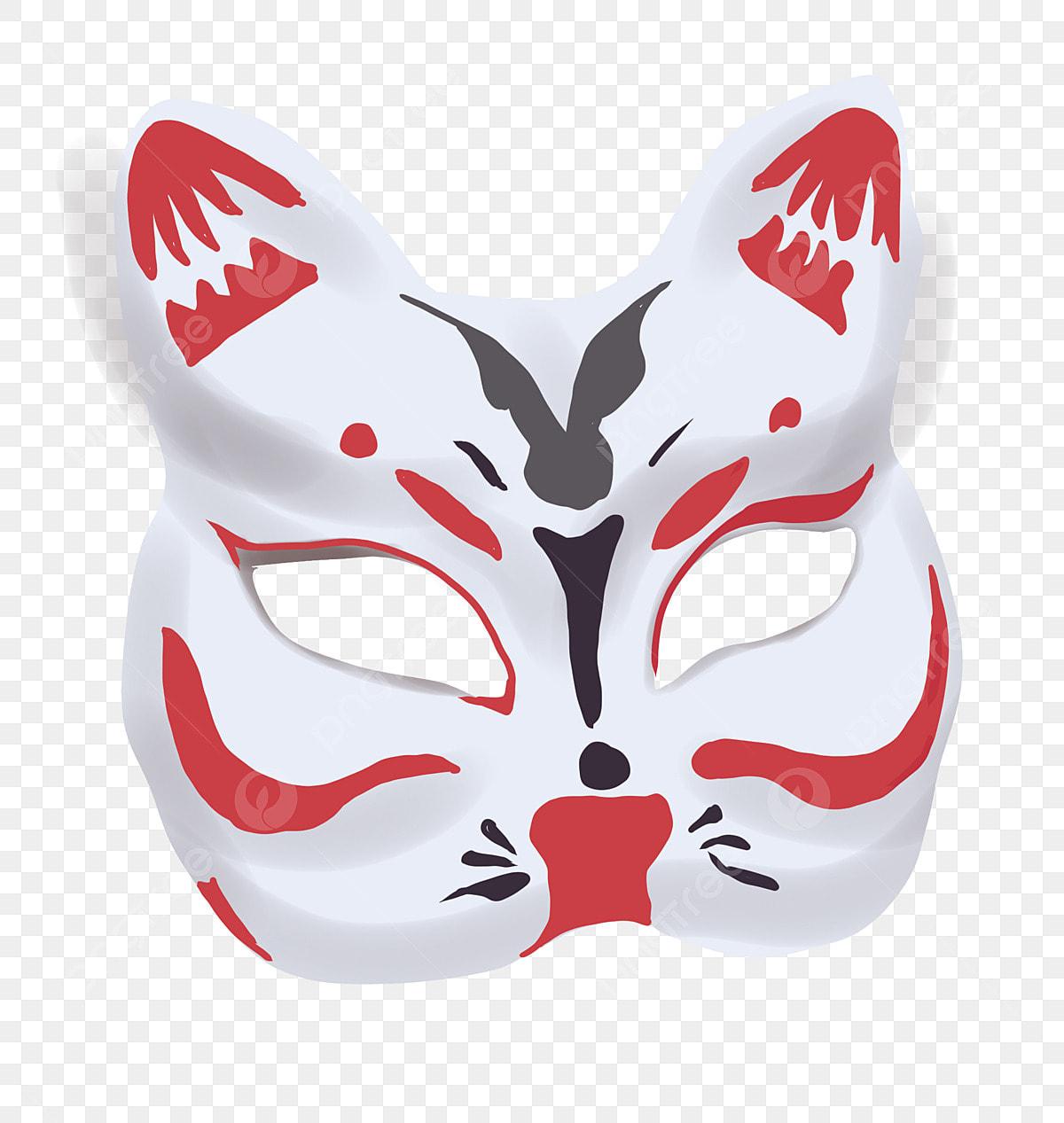Ilustracion De Mascara De Gato Japones Cute Cat Ilustracion De