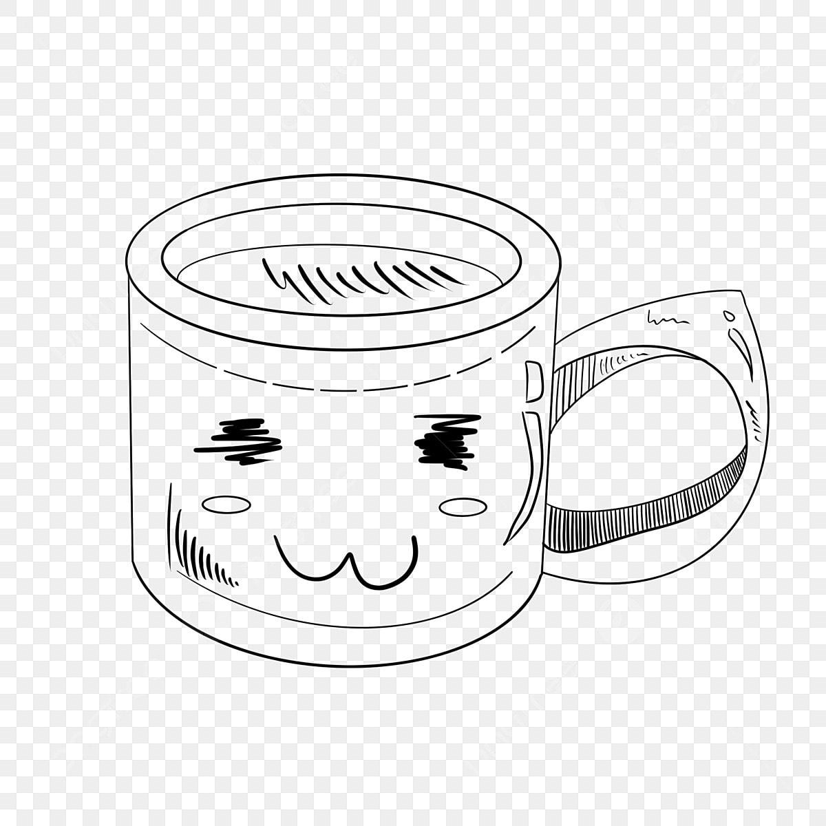Gambar Ilustrasi Cawan Senyuman Lukisan Garis Cawan Senyum Ilustrasi Kartun Ilustrasi Lukisan Garis Png Dan Psd Untuk Muat Turun Percuma