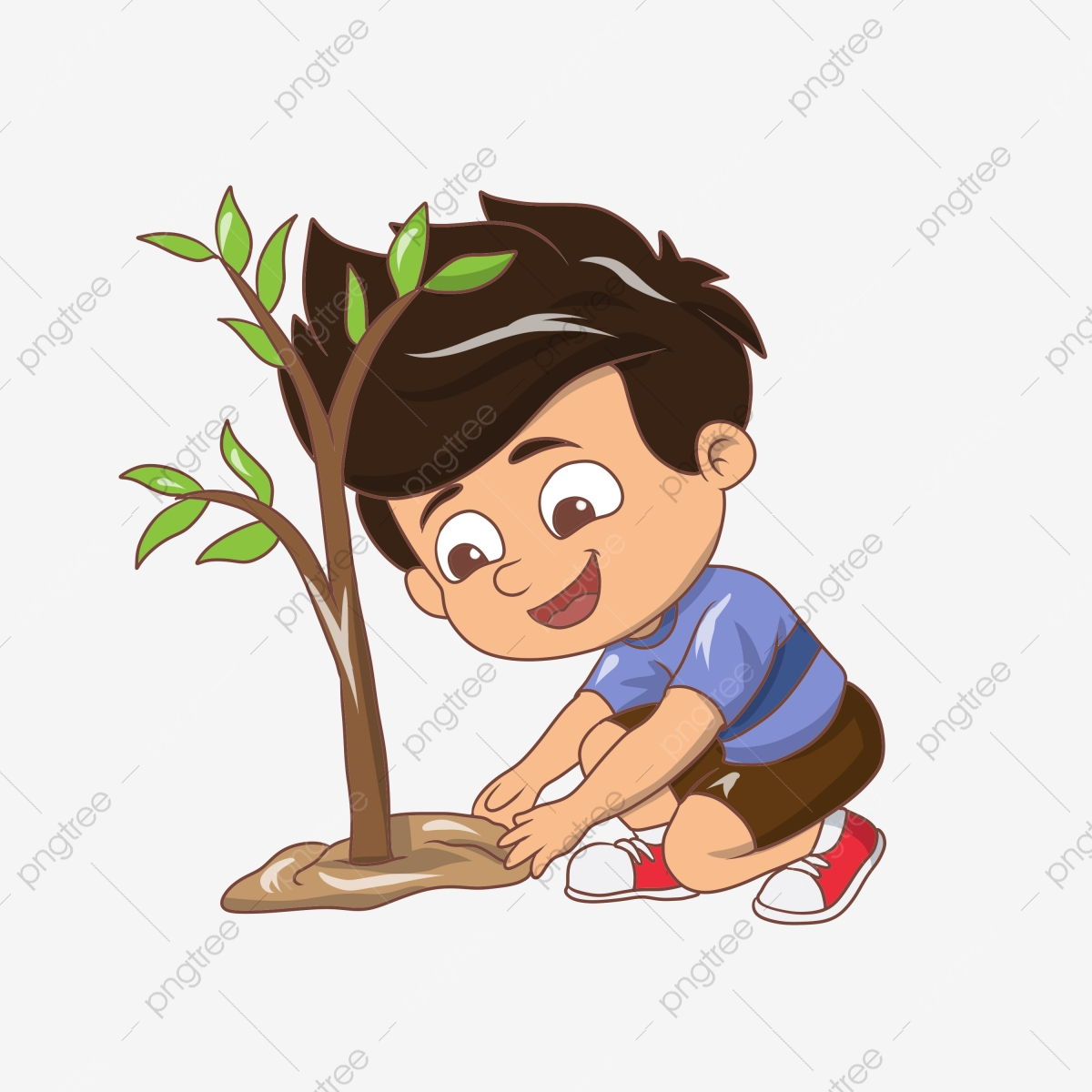 Arbor شخصية اليوم تصوير الولد الصغير شجرة الزراعة الأصفر أرض الإجازات الخضراء زخرفة النبات رسم كاريكتوري طفل صغير يزرع الأشجار الشجرة يوم Png وملف Psd للتحميل مجانا
