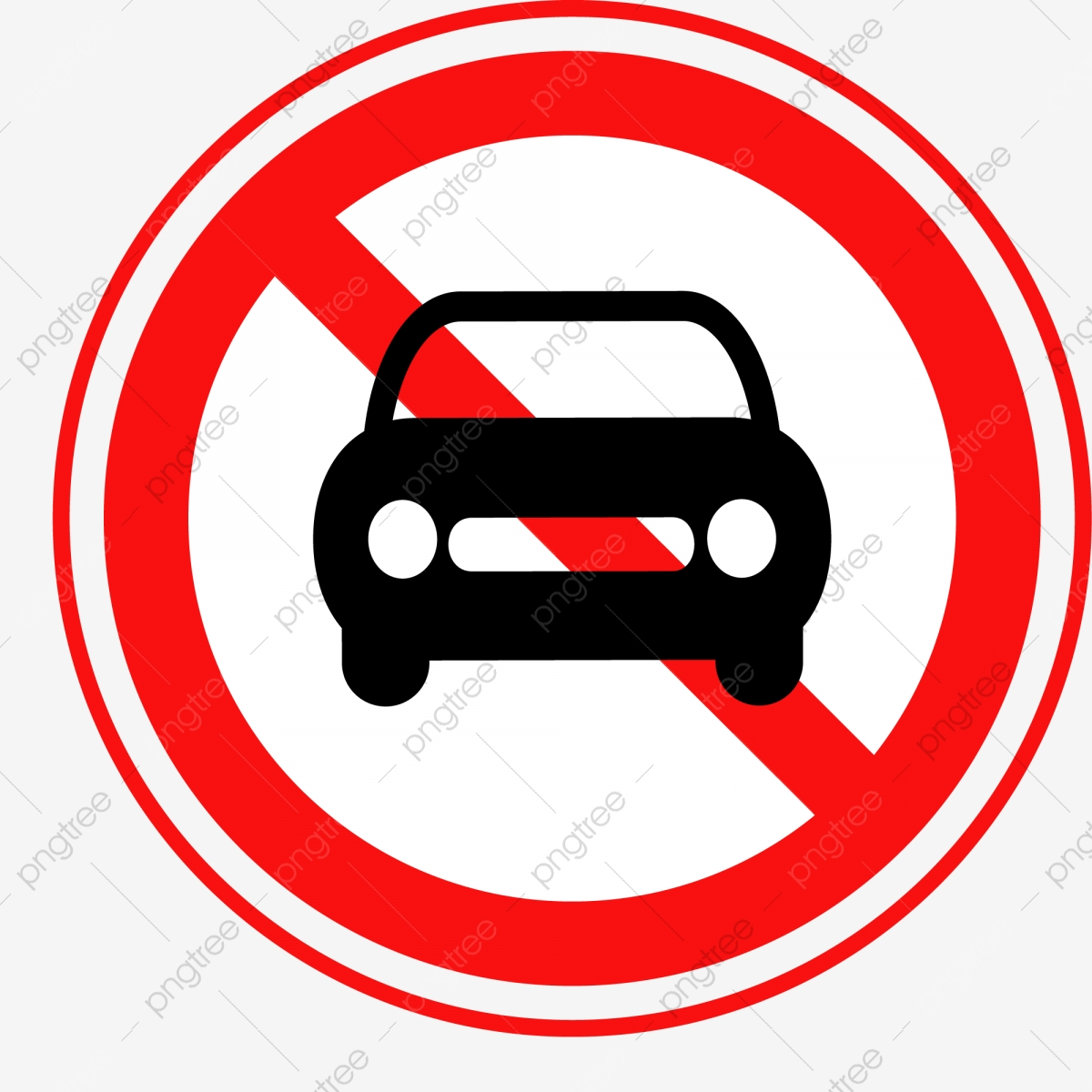 Sign And Drive 45 >> Red Forbidden Car Sign It Is Strictly Forbidden To Drive