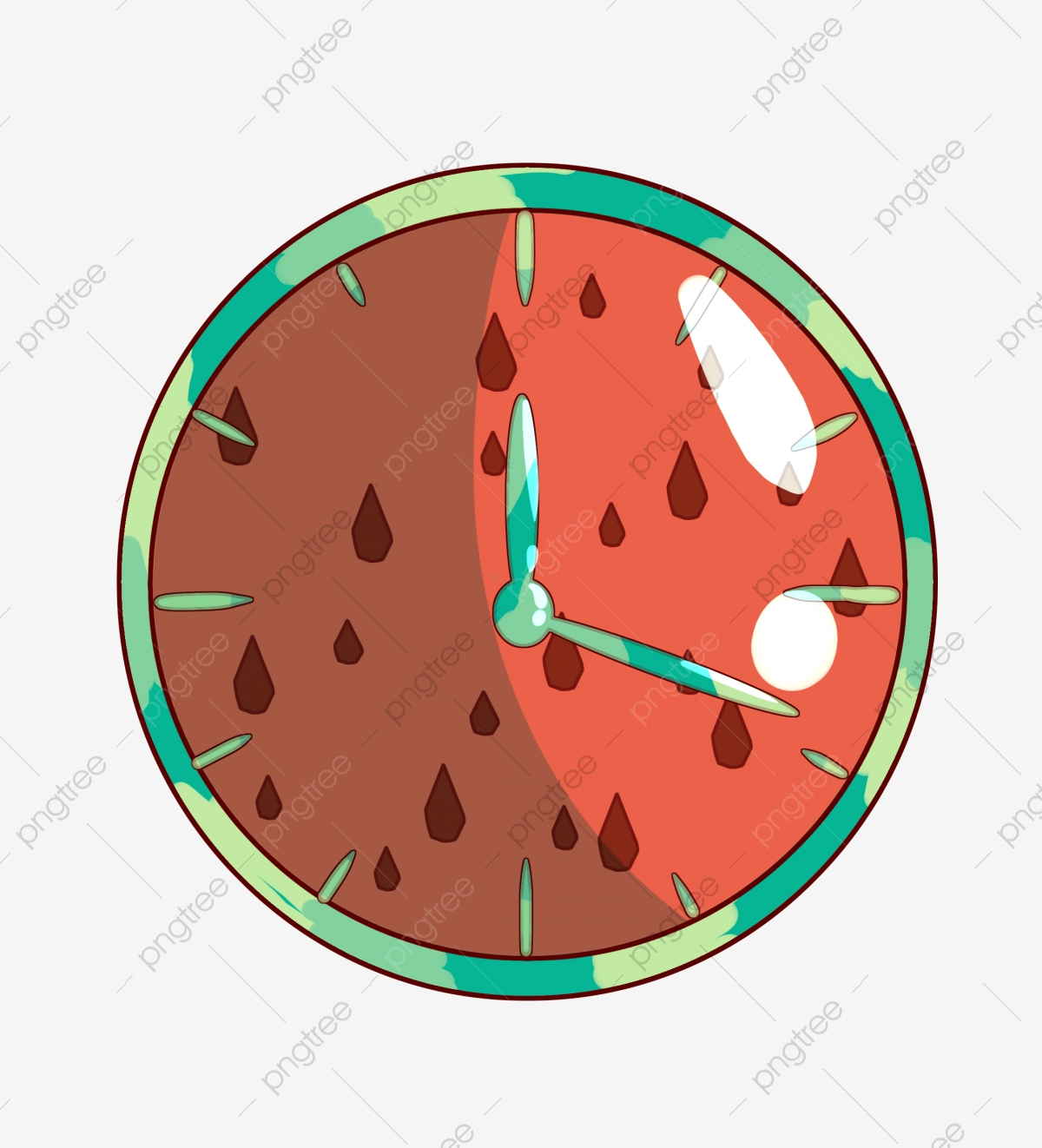 Red Round Clock Illustration Red Clocks Round Clocks Cute