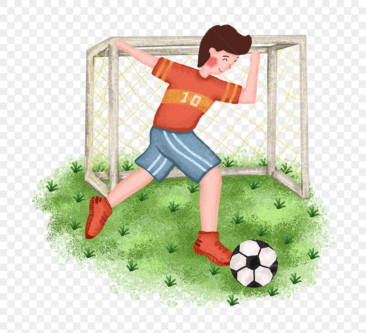 Sportjunge Spielt Fussball Png Kostenlose Clipart Jungen