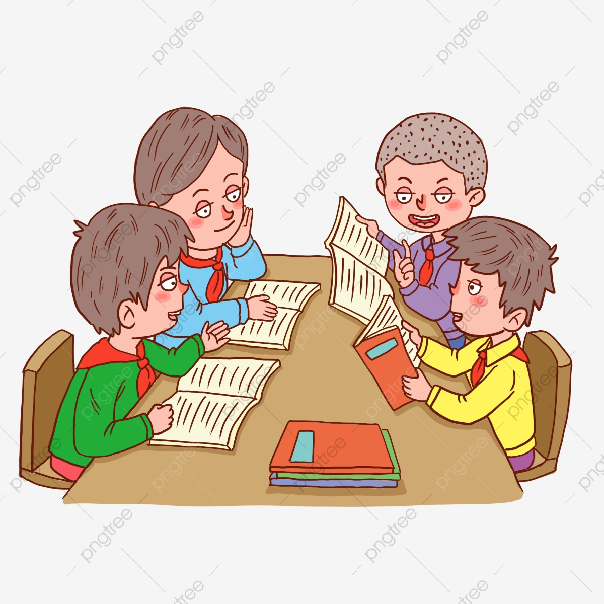 Pelajar Yang Mengambil Kelas Melakukan Kerja Rumah Belajar