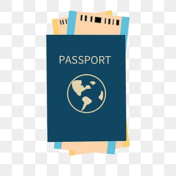 creative cartoon hand drawn ticket passport illustration, Tourism, Passport, Plane Ticket PNG and PSD
