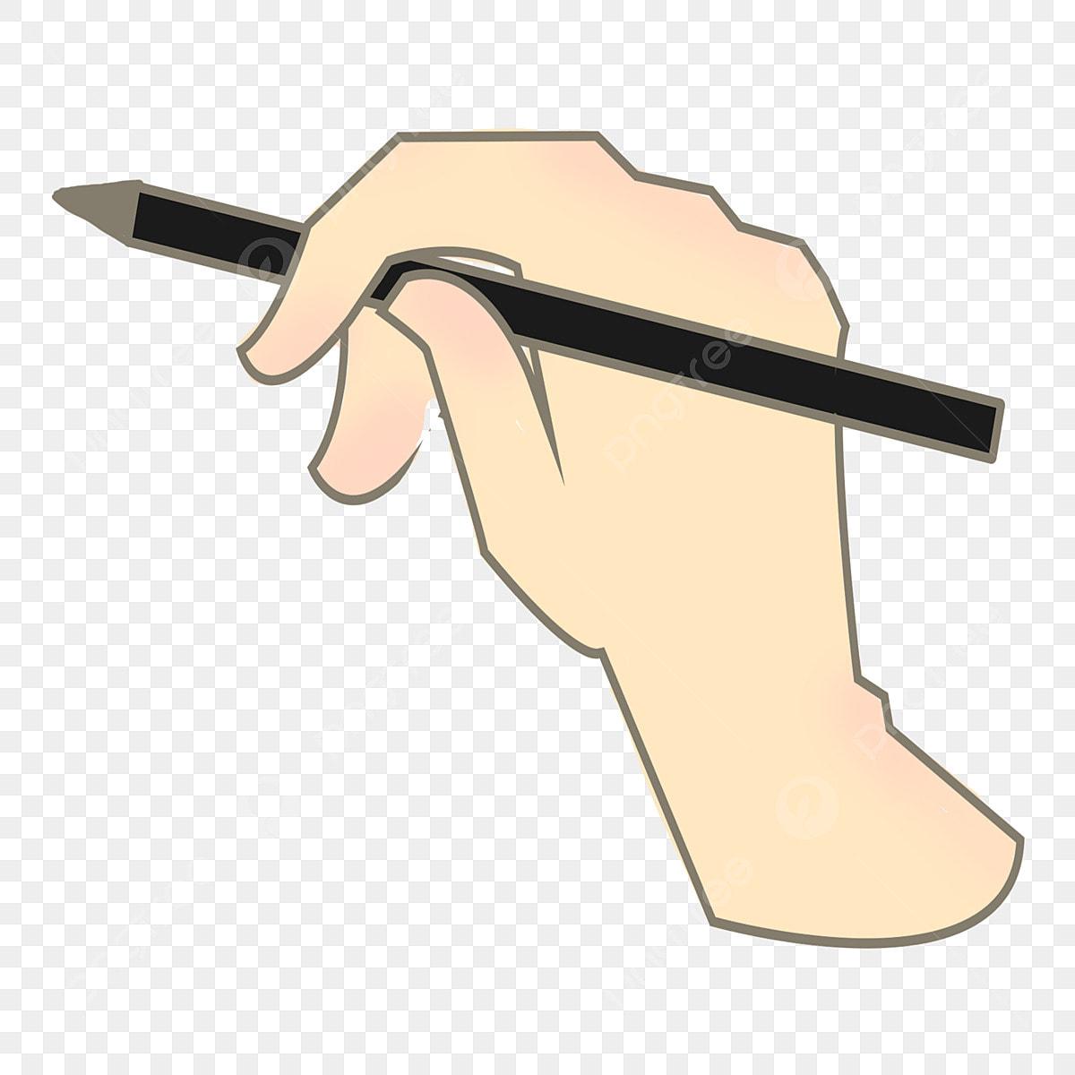 قلم أسود يد واحدة يحمل قلم ا رسم يحمل توضيحي قلم أسود Png وملف Psd للتحميل مجانا