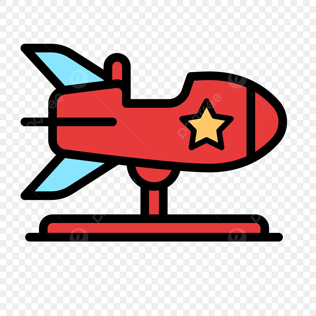 Kartun Helikopter Merah Kartun Merah Pesawat Ilustrasi