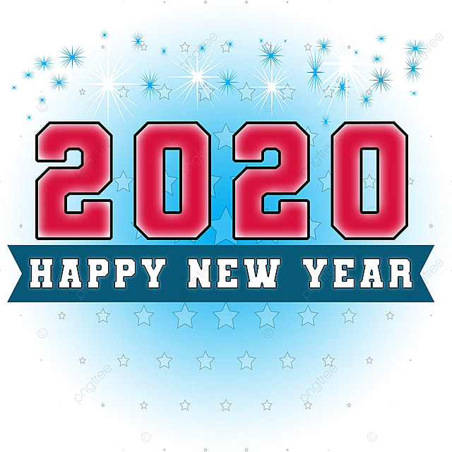 New Words 2020.Decorative Art Words For Happy New Year 2020 Art Font For
