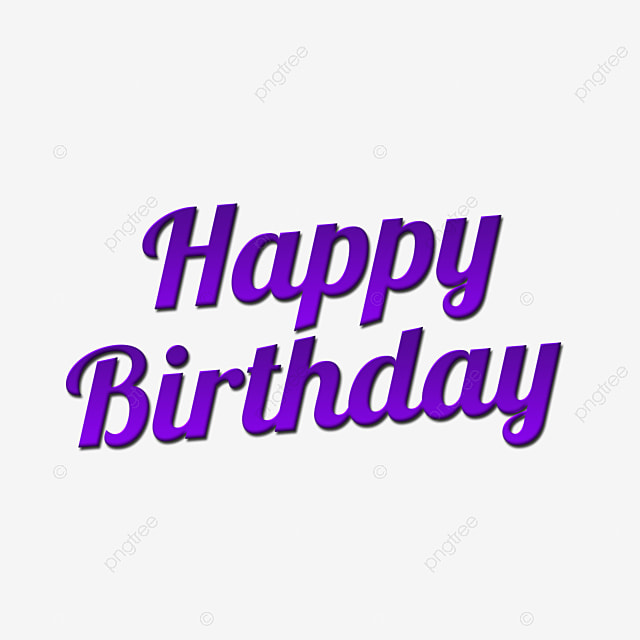 Happy Birthday In Purple Style 3d Text Effect Text Effect