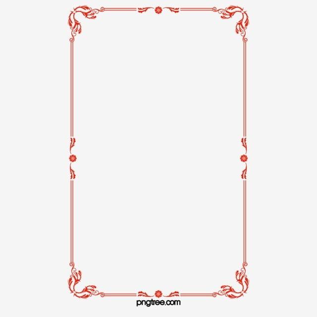 Estructura De Vector De Borde Rojo Simple Estructura