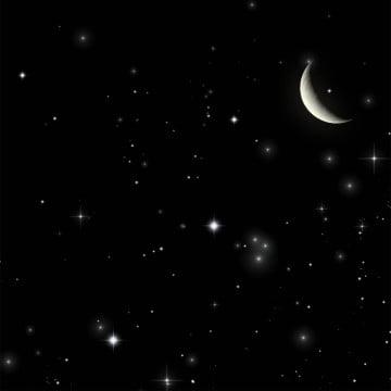 ночь, ночной клипарт, ночь, Луна PNG и PSD