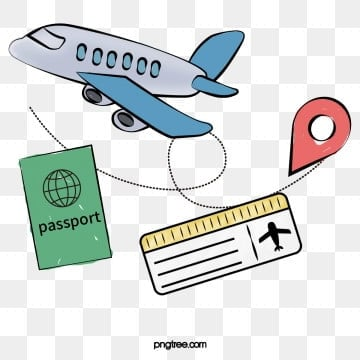 foreign painted travel ticket passport, Travel Clipart, Vector Png, Painted Travel Season PNG and PSD