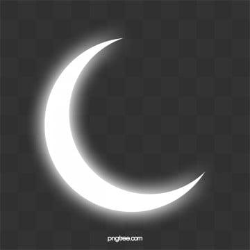 белая луна ночью, Луна, белый, вектор луны PNG и PSD