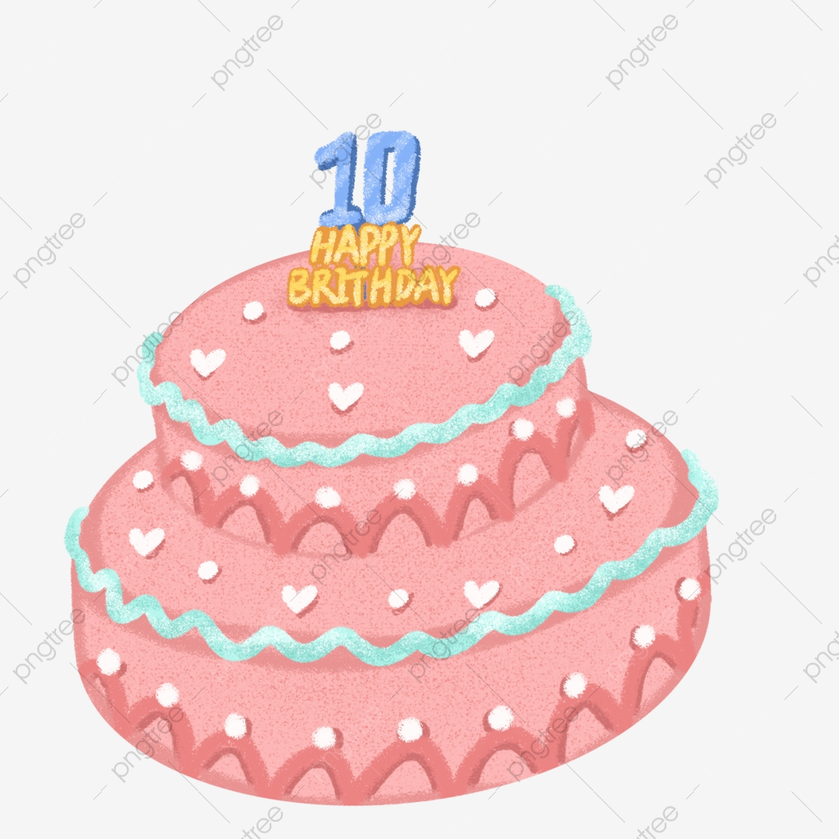 Fine 10Th Birthday Cake Free Illustration 10Th Birthday Red Birthday Birthday Cards Printable Nowaargucafe Filternl