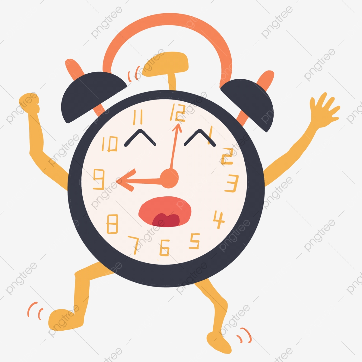 Alarm Clock Ringing Cheerfully Clock Clipart The Alarm Clock Happily Rang The Early Morning The Lovely Alarm Clock Png Transparent Clipart Image And Psd File For Free Download