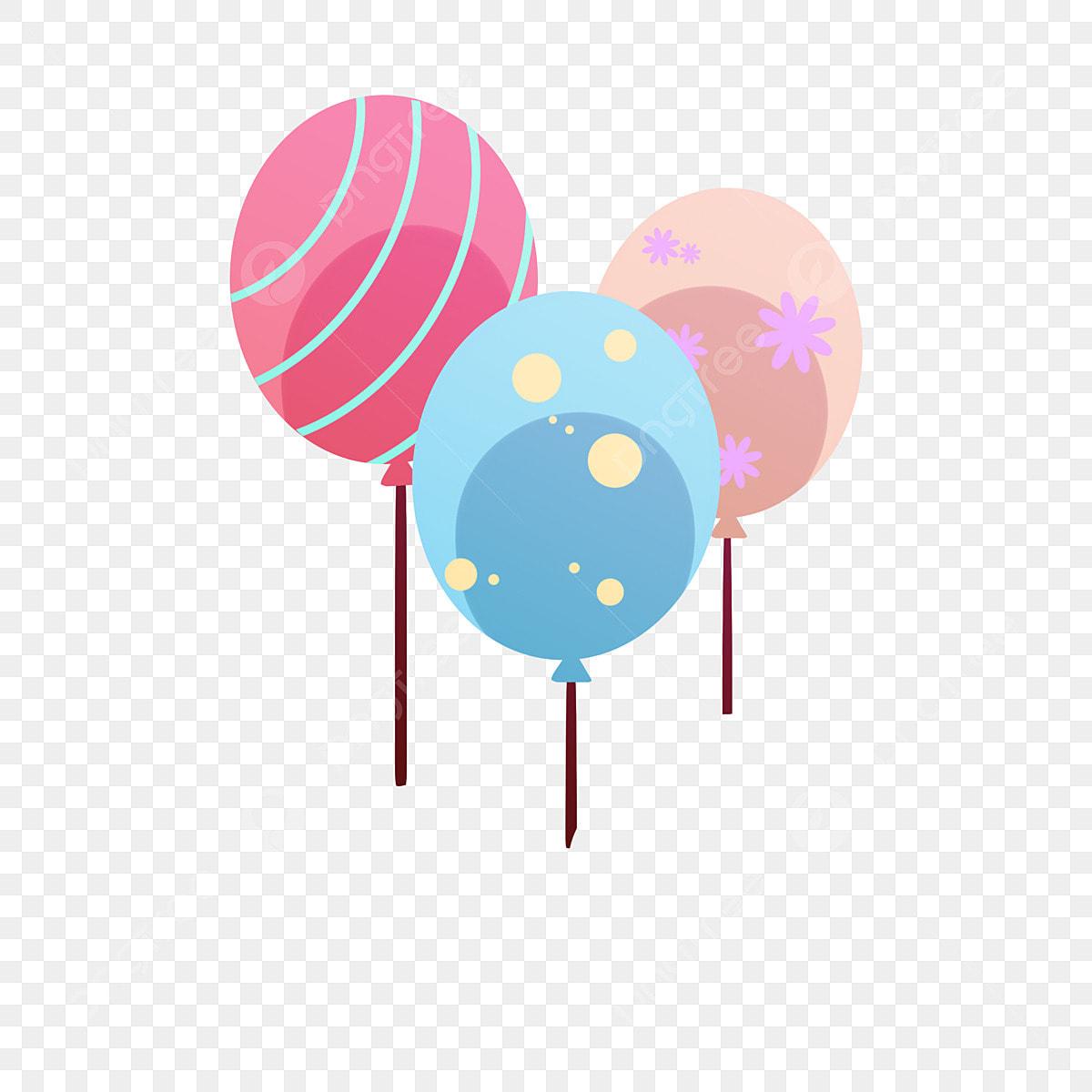 يوم كذبة أبريل بالونات ملونة جذابة أطفال روضة أطفال بالونات ملونة جذابة احتفال لطيف Png وملف Psd للتحميل مجانا
