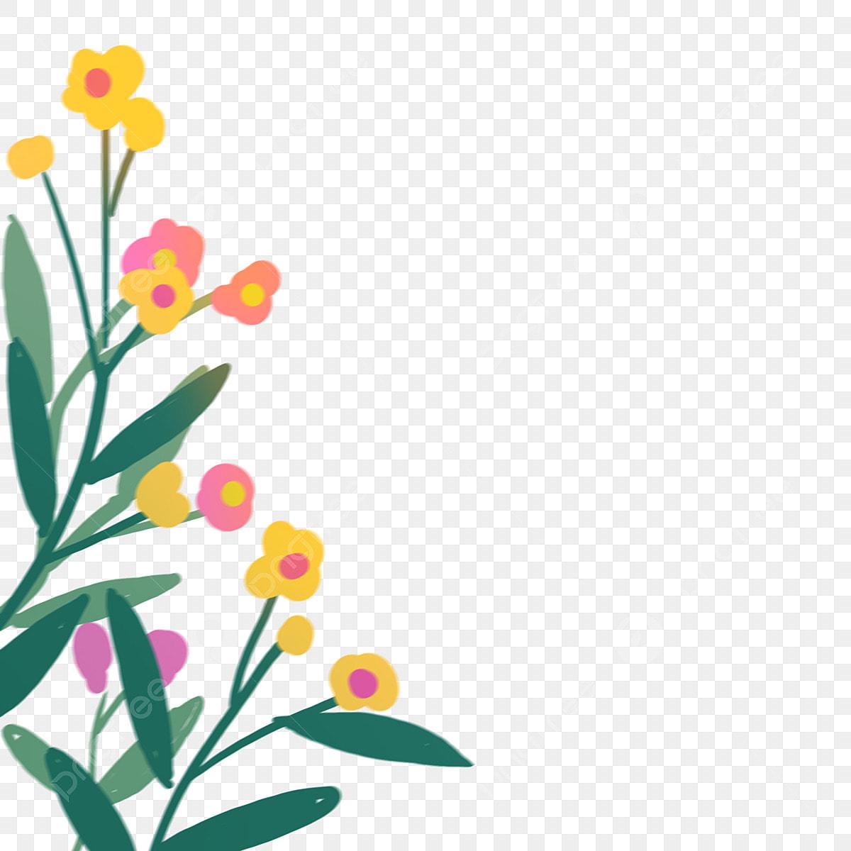 Spring Flowers Spring Flower Clip Art Clipart Free - Spring Flowers  Transparent Background, HD Png Download - kindpng