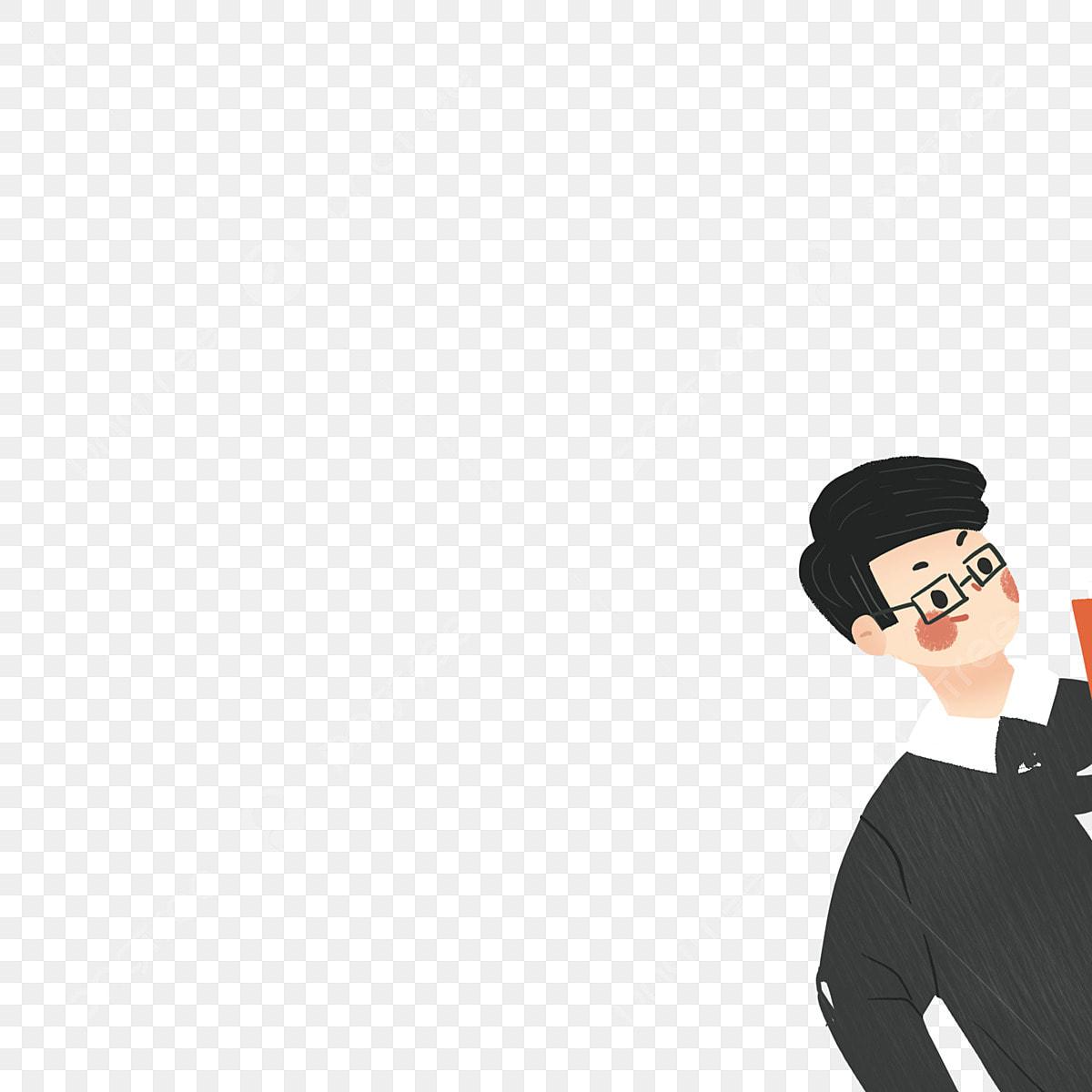 Black Clothes Boy Free Illustration Boy With Glasses Stylish Boy