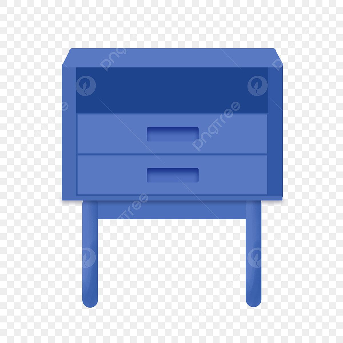 Blue Bedside Table Furniture Furniture Blue Blue Illustration Bedside Table Imagem Png E Psd Para Download Gratuito