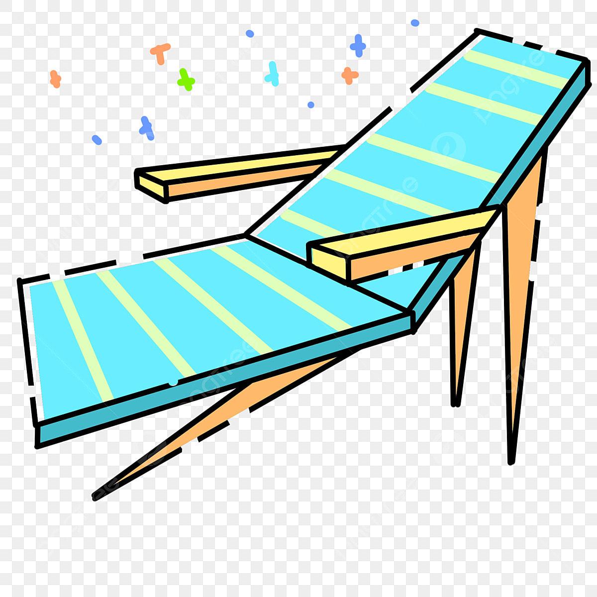 Blue Recliner Cartoon Decoration Lounge Chair Blue