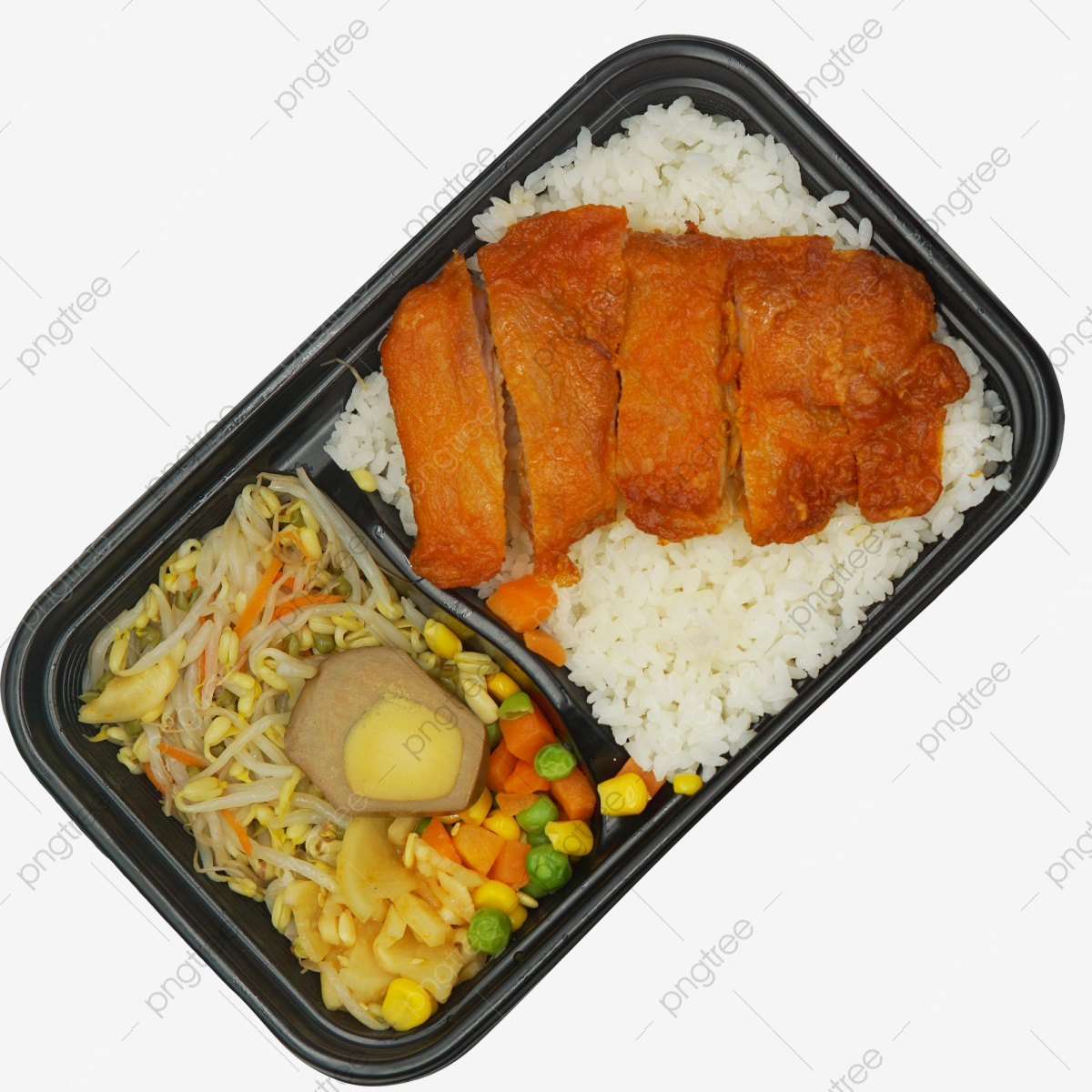Kotak Tengah Hari Makan Tengah Hari Ayam Goreng Makanan Segera