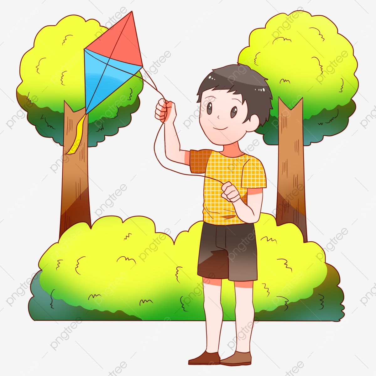 A Kite カイト 春のツアーキャラクターイラスト カイトフライングボーイ 色の凧