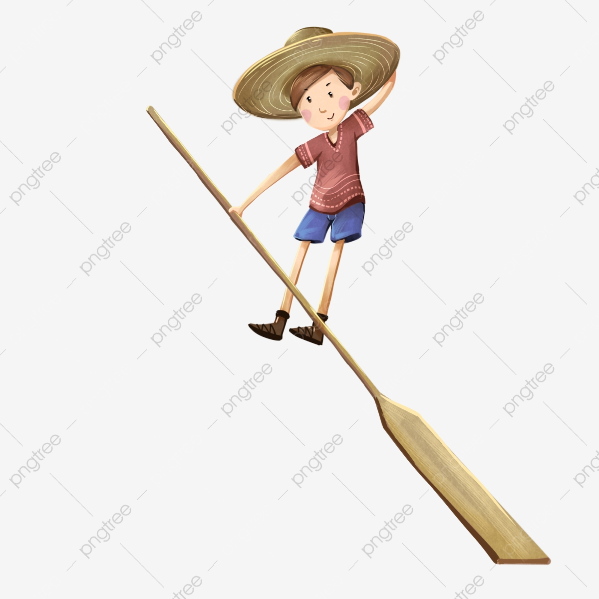 Boy Holding A Paddle Naughty Like Cute Png Transparent Clipart