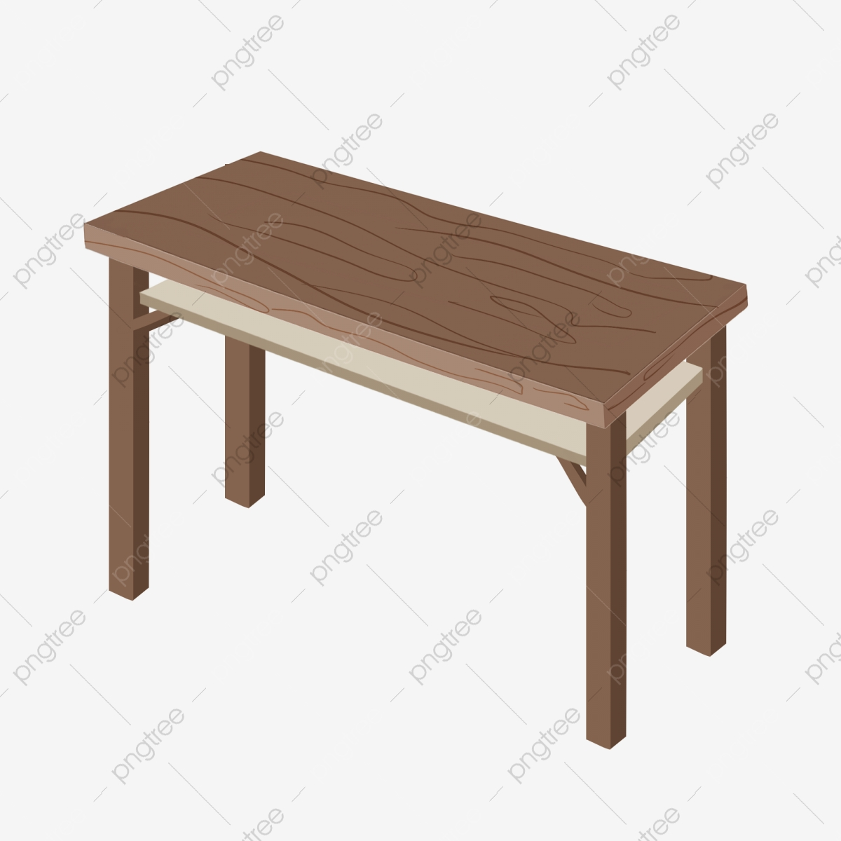 Brown Wood Table Illustration Solid Wood Furniture Rectangular Table Brown Table Png Transparent Clipart Image And Psd File For Free Download