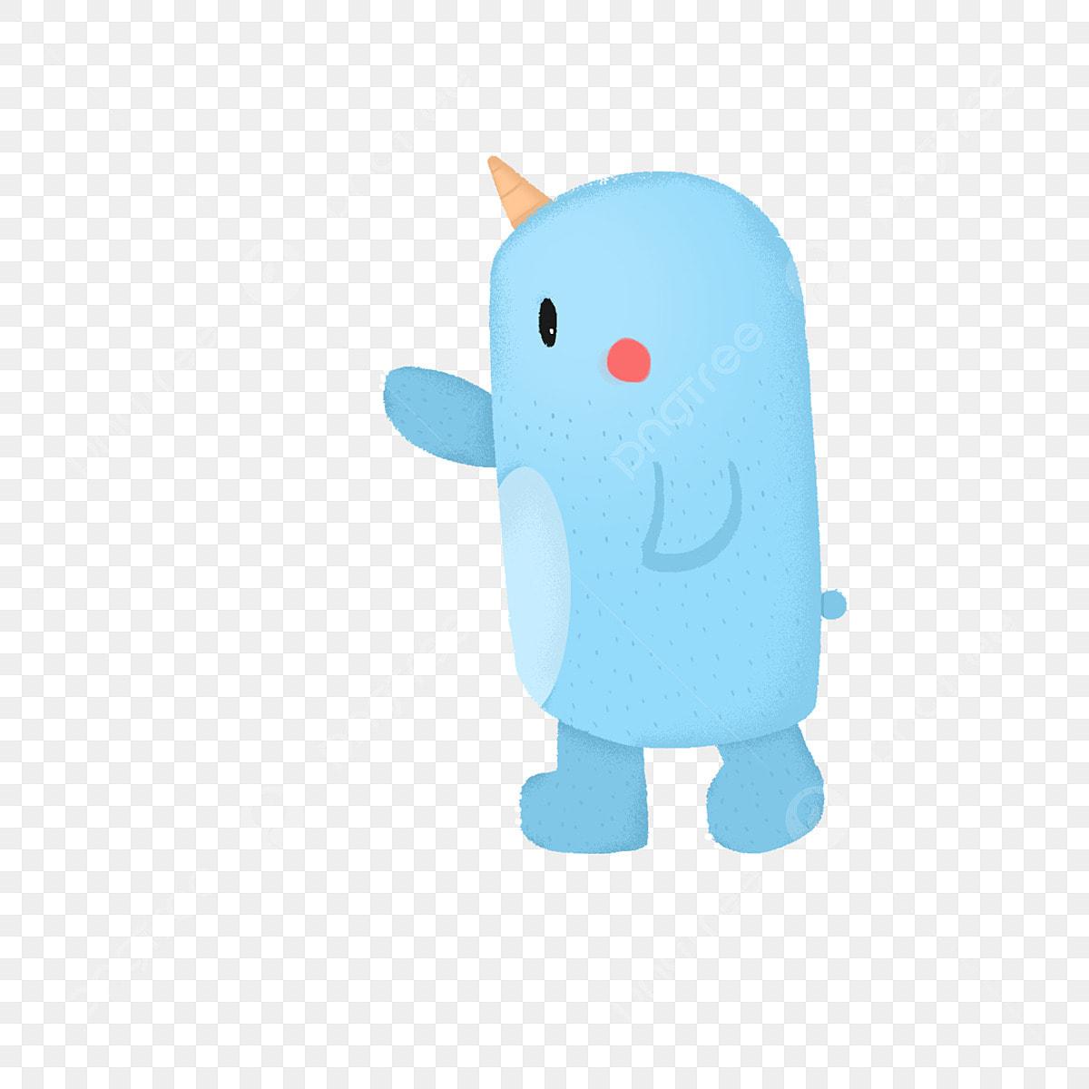 Dessin Anime Animal Animal Bleu Schtroumpf Bleu Illustration