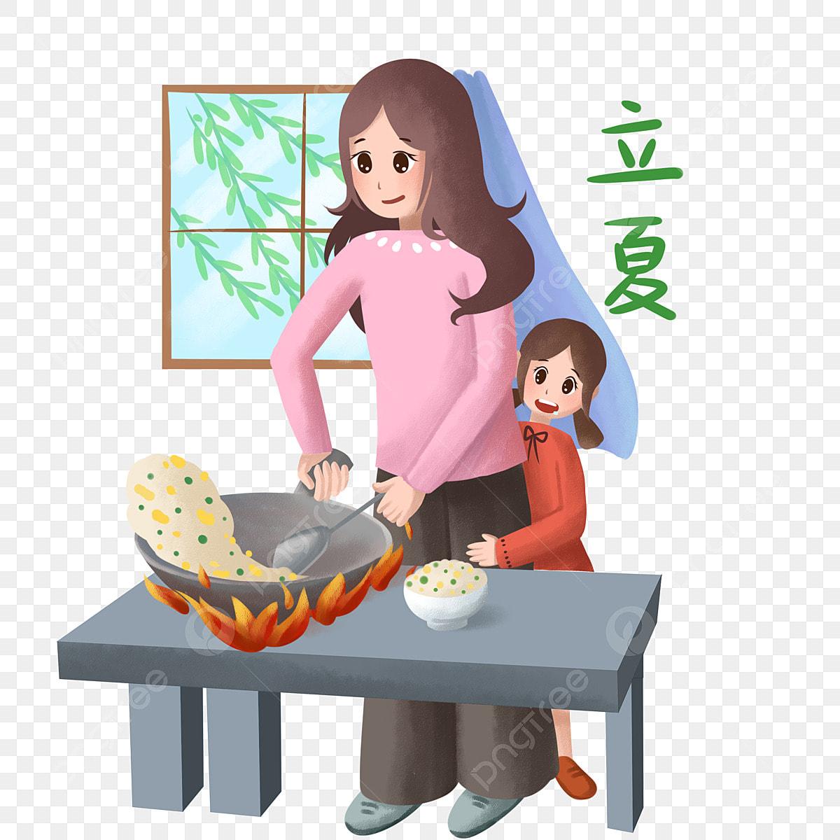 Gambar Musim Panas Musim Panas Masak Ibu Ibu Musim Panas Kartun Png Dan Psd Untuk Muat Turun Percuma