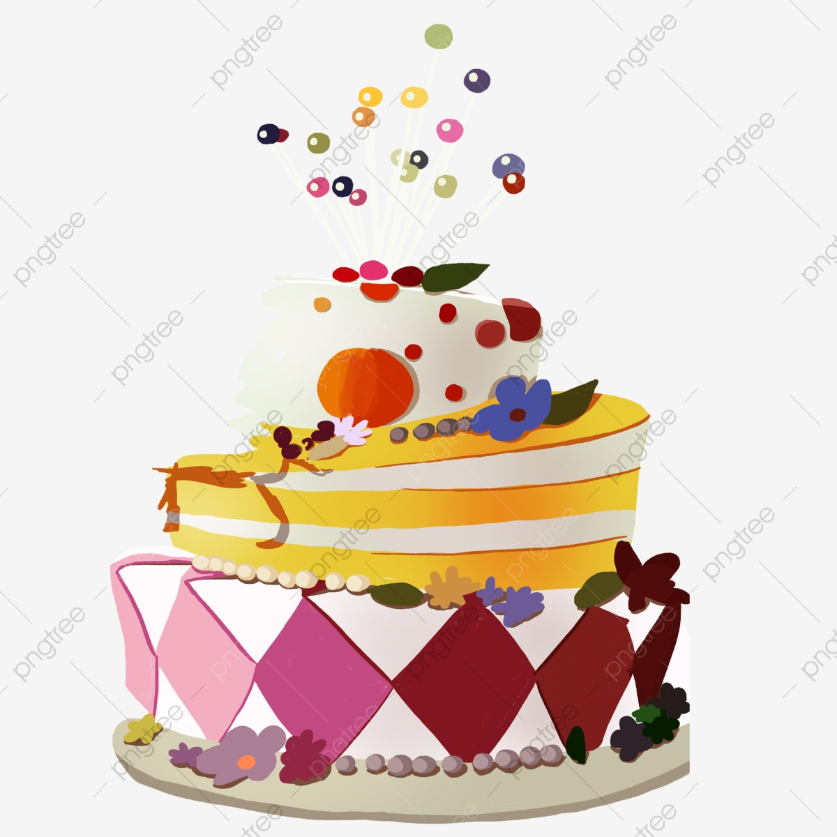 Christmas Cake Stock Vector Illustration And Royalty Free Christmas Cake  Clipart