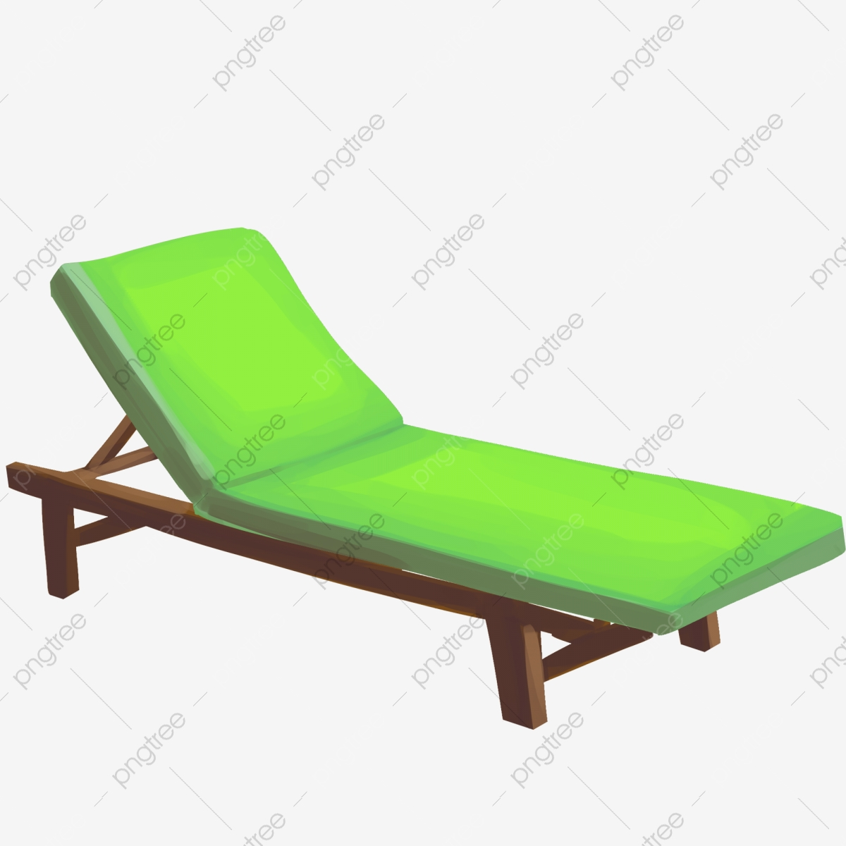 Awesome Cartoon Green Lounge Chair Padded Sunbathing Resting Png Squirreltailoven Fun Painted Chair Ideas Images Squirreltailovenorg