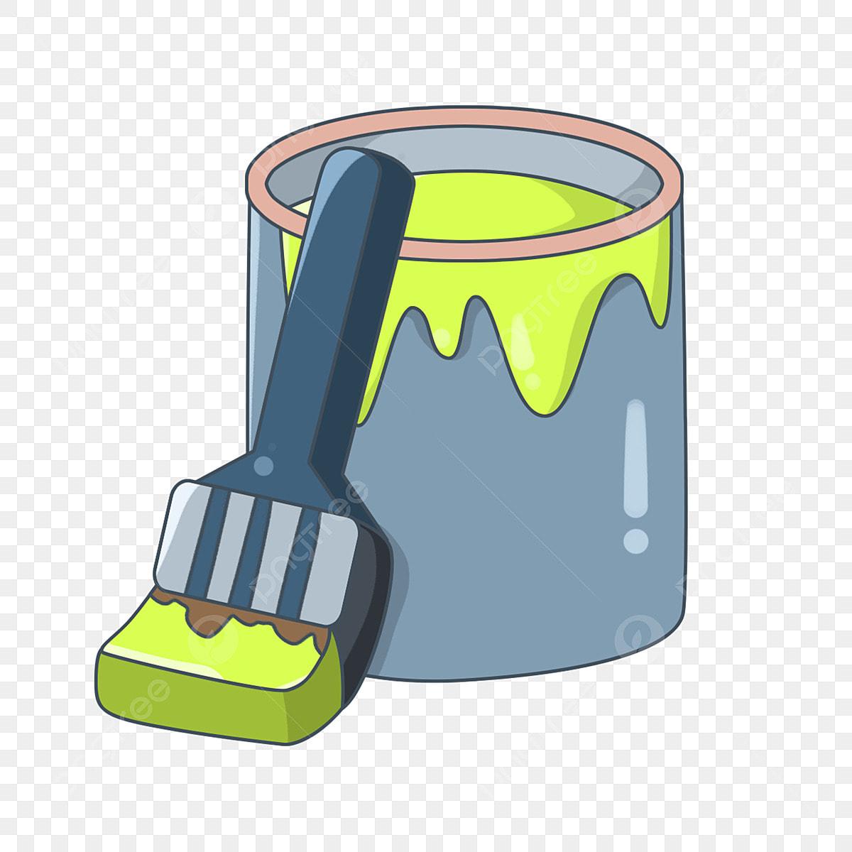 Green Paint Paint Bucket Illustration Paint Brush Construction Tools Cartoon Cartoon Paint Bucket Green Paint Imagem Png E Psd Para Download Gratuito