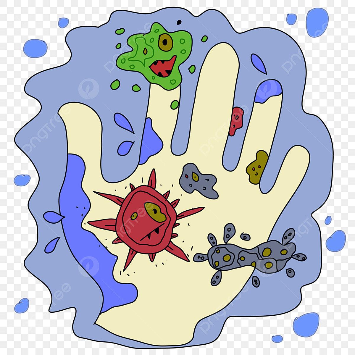 imagenes de manos con bacterias