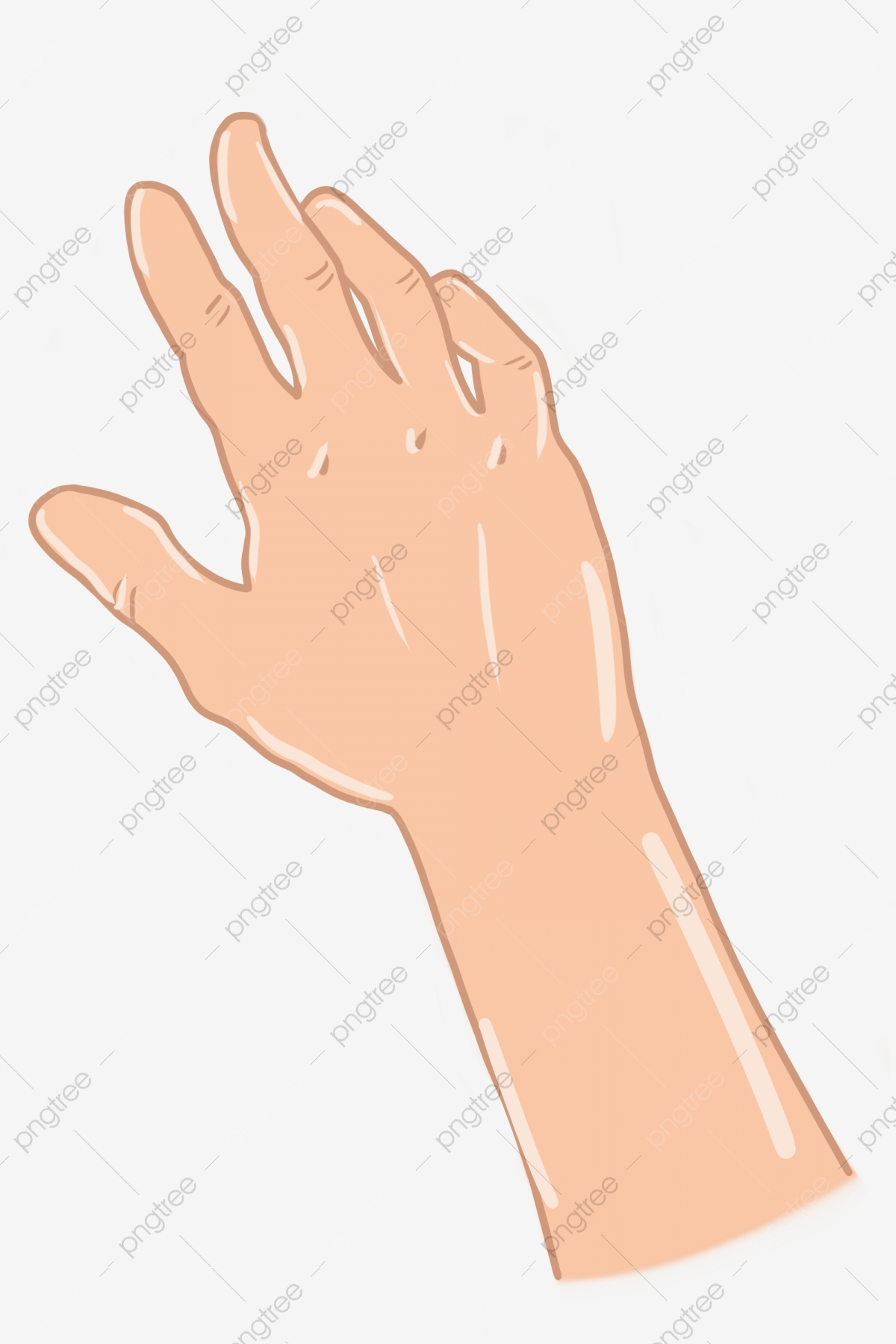 Cartoon Hand Reaching Out The Palm Reach Out Gesture Finger Png Transparent Clipart Image And Psd File For Free Download