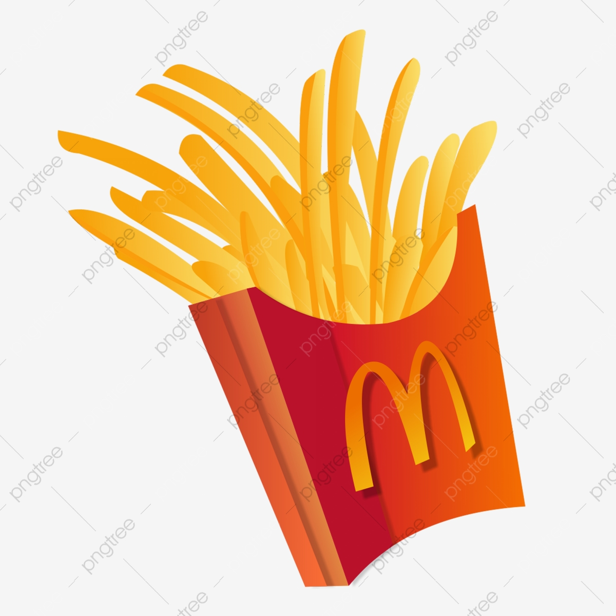 Cartoon Mcdonald S Fries Free Button Delicious French Fries