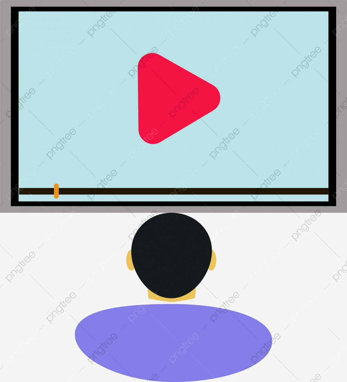 Cartoon Minimalist Watching Video Pictures Cartoon Simple Small Png And Vector With Transparent Background For Free Download
