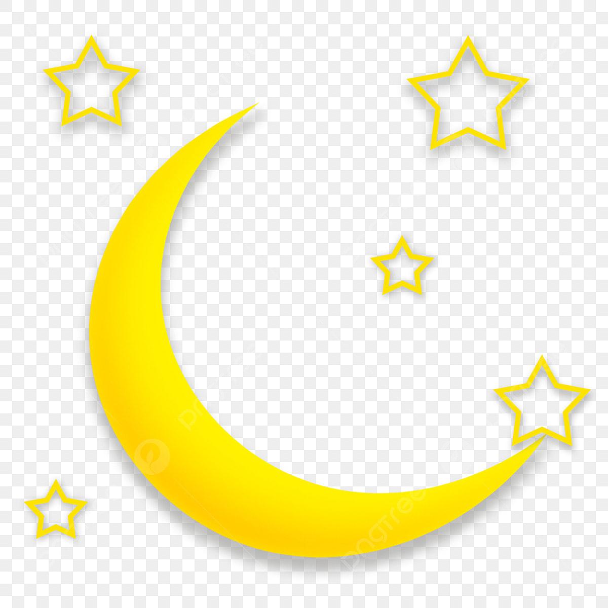 Lune De Dessin Anime Croissant De Lune Etoiles Etoiles Creuses