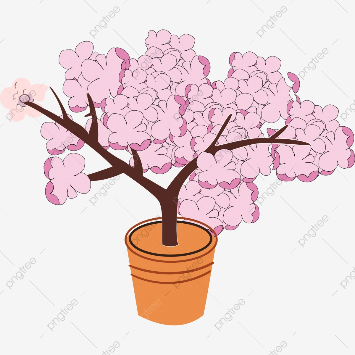 Gambar Bunga Kartun Bunga Pasu Bunga Cantik Ilustrasi Kartun Bunga Kartun Ilustrasi Kartun Bunga Pasu Png Dan Psd Untuk Muat Turun Percuma