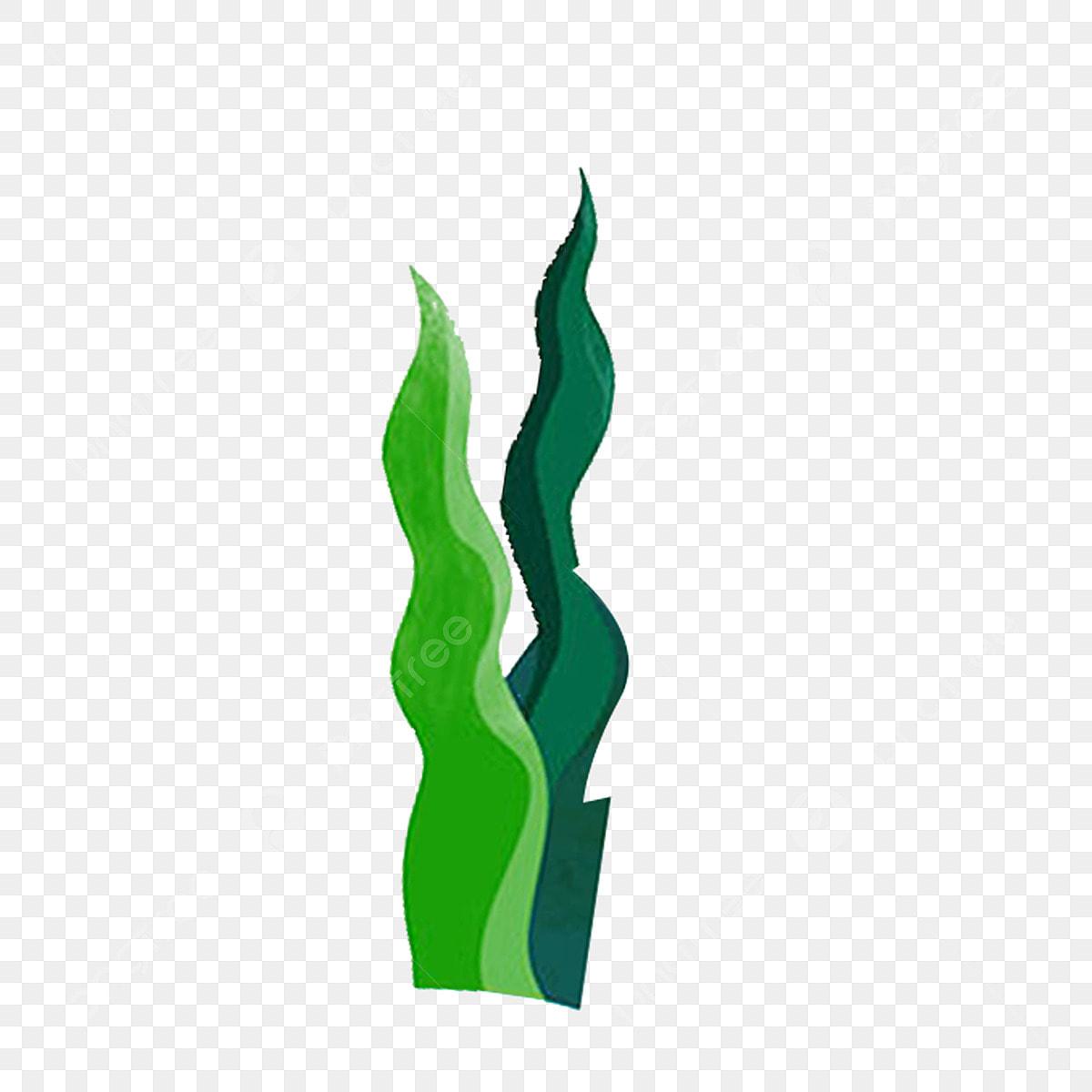 Rumput Tumbuhan Daun Hijau Rumpai Laut Ilustrasi Kartun