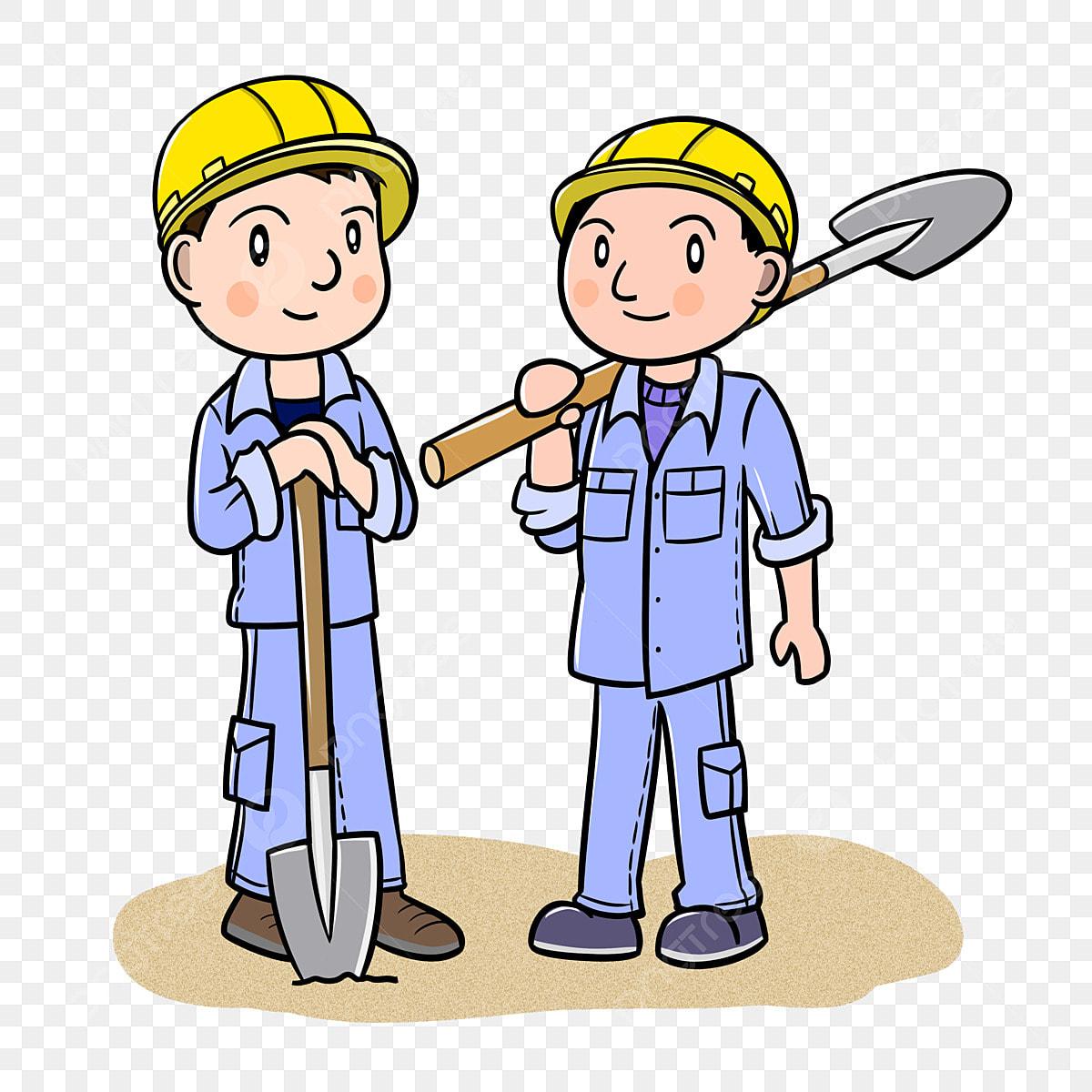 Gambar Kartun Pekerja Pekerja Asing Pekerja Kartun Tapak Pembinaan Bahagian Kartun Png Dan Psd Untuk Muat Turun Percuma