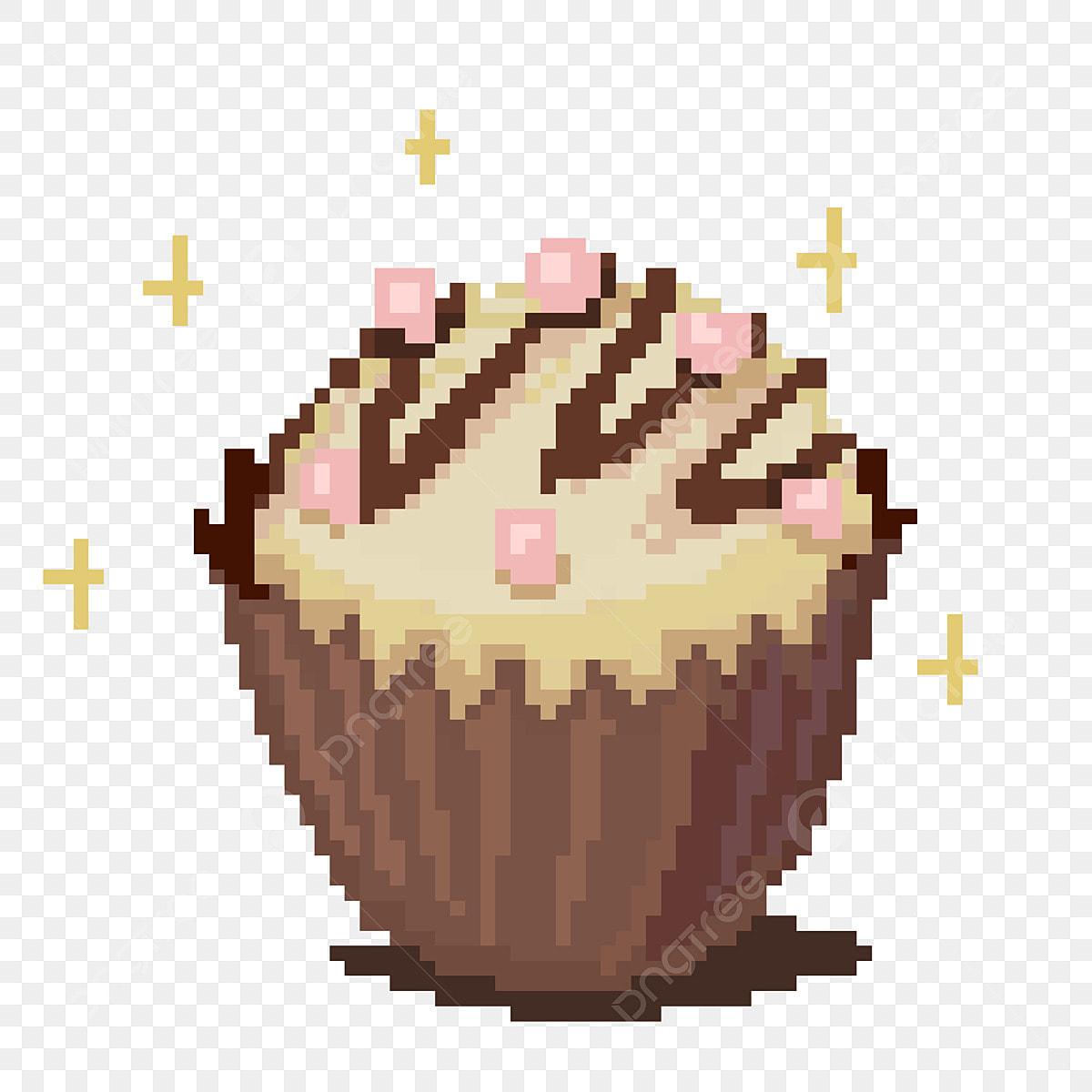 Peinture Pixel Gateau Au Chocolat Illustration Pixelisee Chocolat Pixel Nourriture Gateau Fichier Png Et Psd Pour Le Telechargement Libre