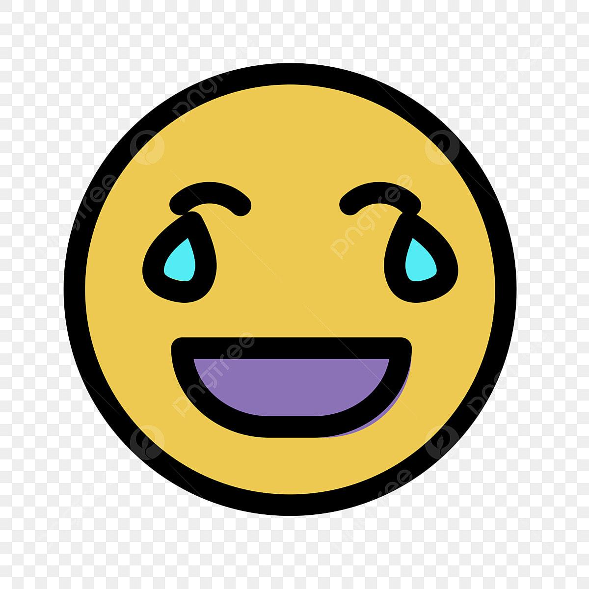 Pleurer Et Rire Icone D Emoticone Emoticone De Personnage Interface Utilisateur Plate Fichier Png Et Psd Pour Le Telechargement Libre