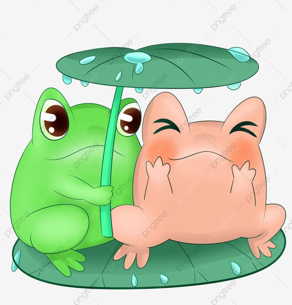 Cute Frog Cartoon Illustration Frog Cute Raining Png Transparent Clipart Image And Psd File For Free Download