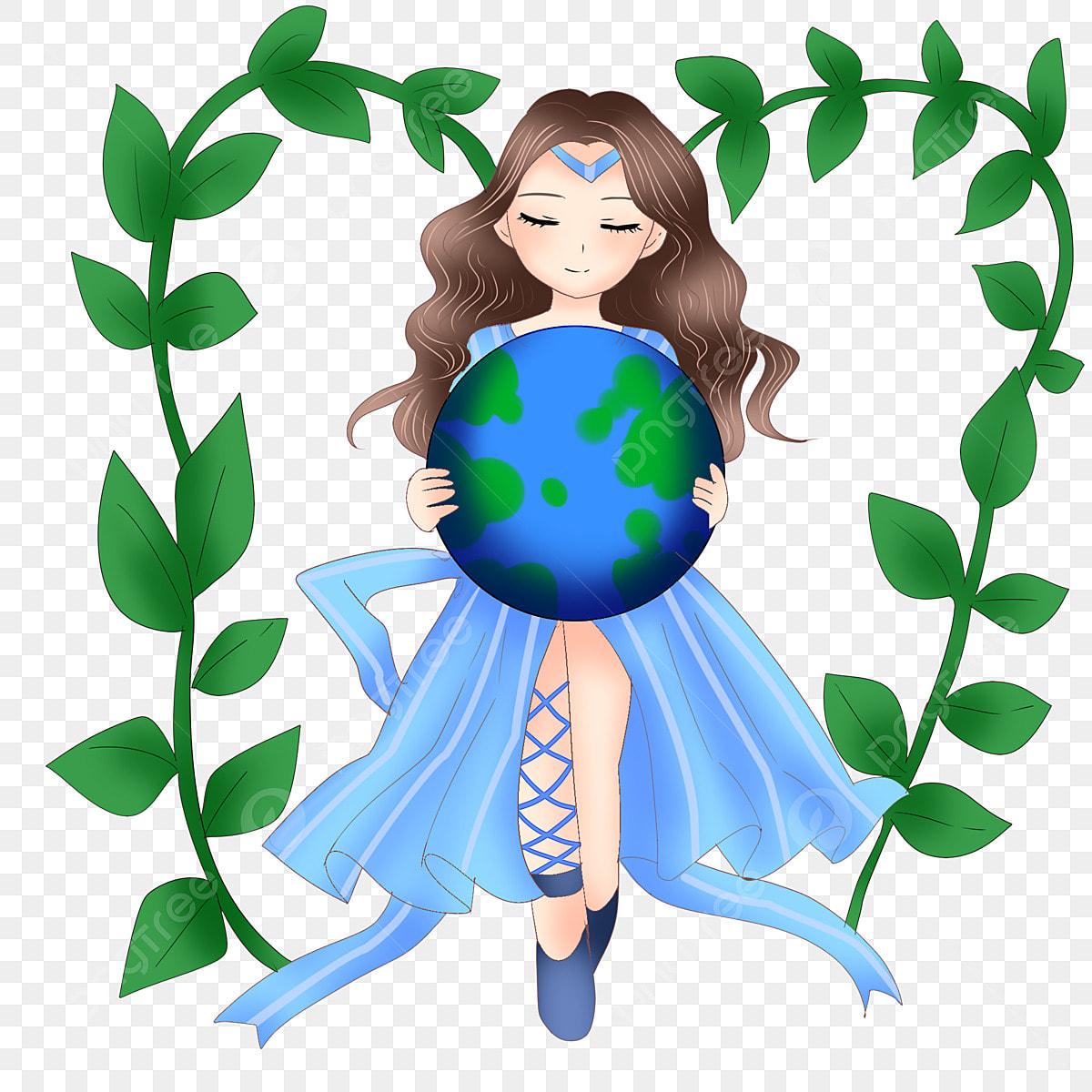 Fille Respectueuse De L Environnement Illustration De Dessin