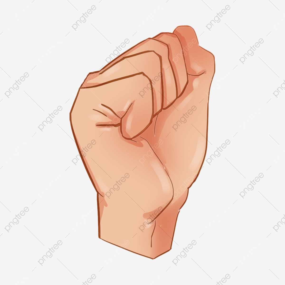 Fist Punch Cartoon Gesture Illustration Yellow Fist Gesture Png Transparent Clipart Image And Psd File For Free Download