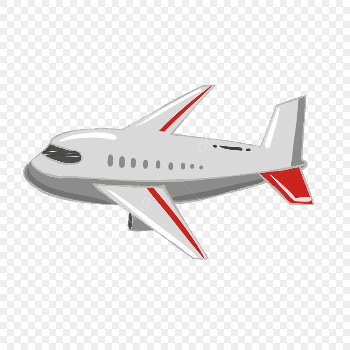 Flying Airplane Cartoon Illustration Gray Airplane Cartoon