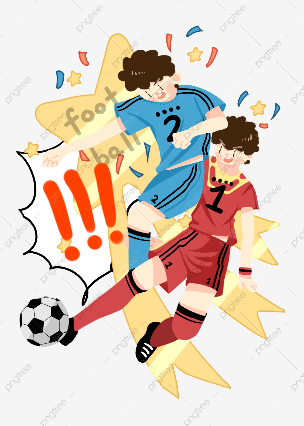 Football Character Cartoon Illustration Football Sports Competition Png Transparent Clipart Image And Psd File For Free Download